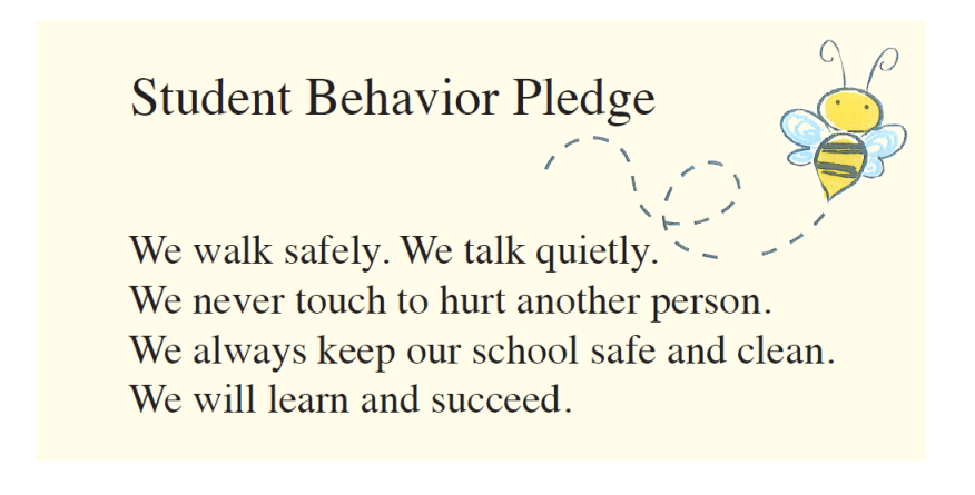 Student Behavior Pledge