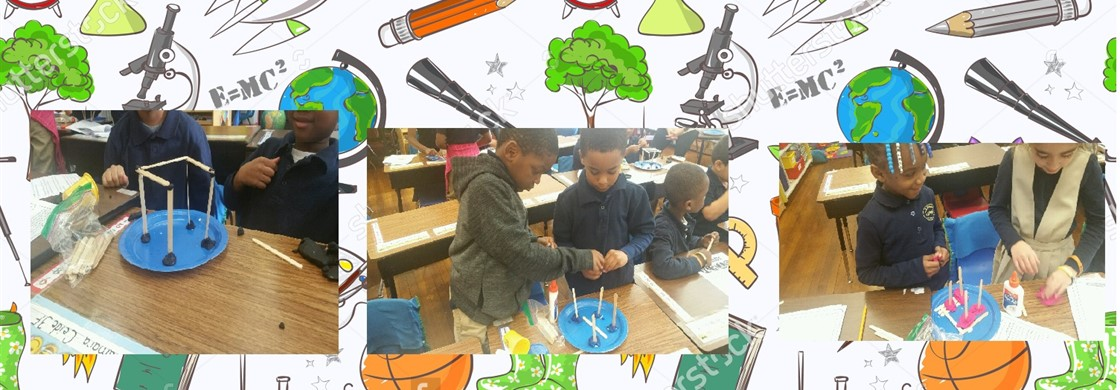 Mrs. Diggs & Mrs. Arias's first grade class participated in project-based learning during science. The students built a structure to withstand a storm surge and strong winds during a hurricane as part of the weather unit.
