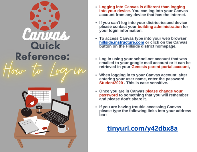 Canvas Login Quick Reference